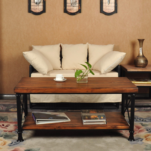 Living Room Showrooms Sofa Ideas Images Customizable American Country Wrought Iron Wood Coffee Table Fashion Negotiating Teasideend