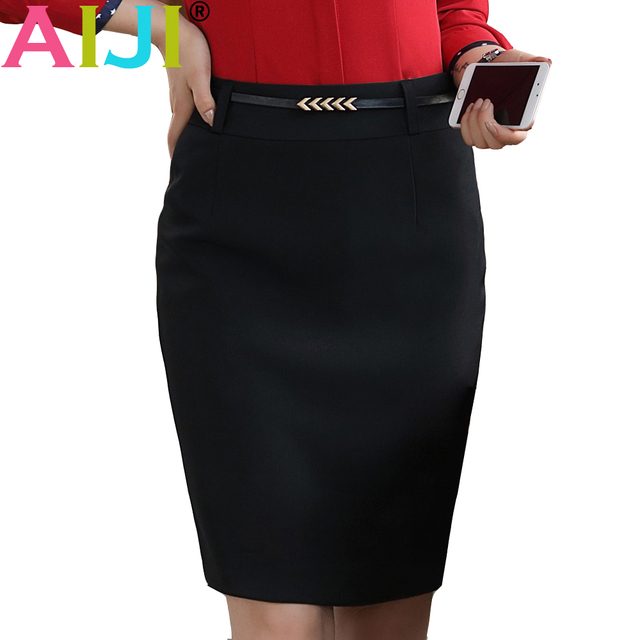 e52862cc1a winter spring fashion women formal skirt OL plus size slim black hip short  skirts office ladies business work wear step skirt