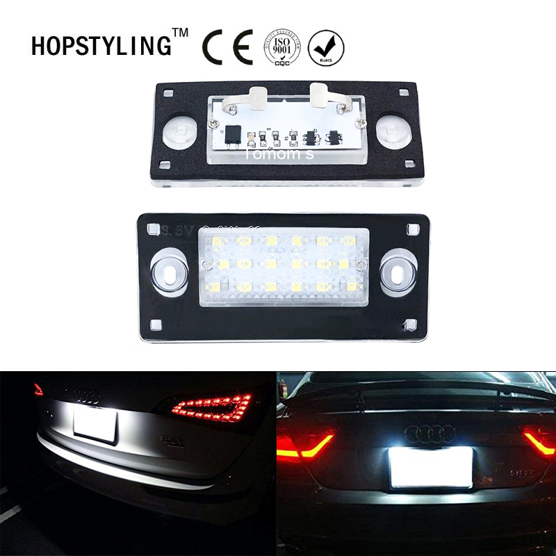 2x Free Error LED rear number plate light For <font><b>Audi</b></font> <font><b>A4</b></font> S4 Avant <font><b>1999</b></font>~2001 RS4 <font><b>B5</b></font> A3 2001~2003 car styling accessory parts image