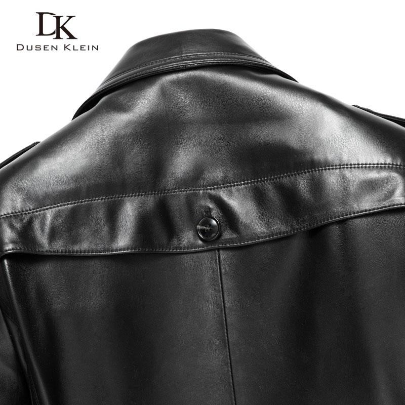 De Cuir Veste Véritable Mouton Noir Black Peau Dusen Hommes En Printemps Klein long Mi 14n628 Manteau Luxe n8wm0vN