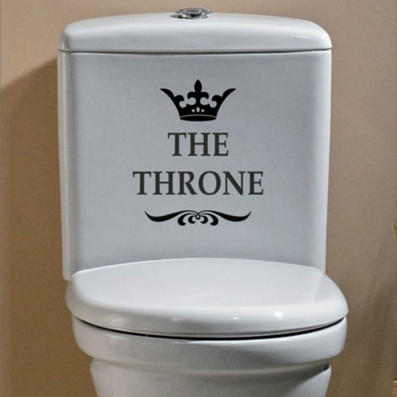 THE THRONE Funny Interesting Toilet Wall Stickers Bathroom Decoration Accessories Home Decor 4WS-0028