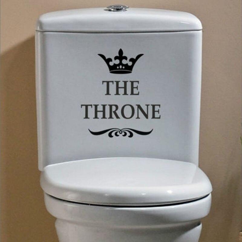 il trono divertenti interessanti adesivi murali wc bagno decorazione accessori per la casa 4ws 0028