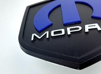 Cool 3D Auto Sticker-Metalen Mopar Badge-Gestanst Sticker voor Jeep Cherokee Wrangler Dodge Ram Cruiser 12cm * 4.6cm