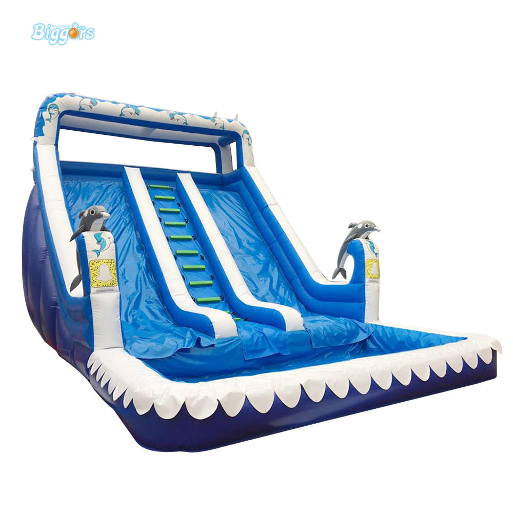 Jeux Gonflables Inflatable Tobogan Water Slide Pool For Party And Events popular best quality large inflatable water slide with pool for kids