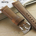 Brown Leather Strap Genuine Watch Strap 24MM Soft Calf Watchband For PAM , handmade men's bracelet, free shipping