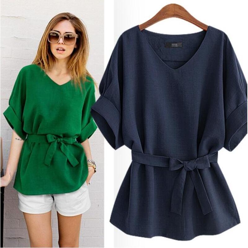 Luoyifxiong-XL-5XL-Plus-Size-Blouses-2018-Summer-Shirt-Women-Tops-Linen-Tunic-V-Neck-Big (1)