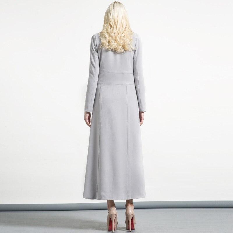 Geschäfts Graben Mantel Herbst Xxxl Frauen Super 2018 Winter Outwear Elegante Frau Lange lange X Grau Single Button Qualität xqfnOCwfT