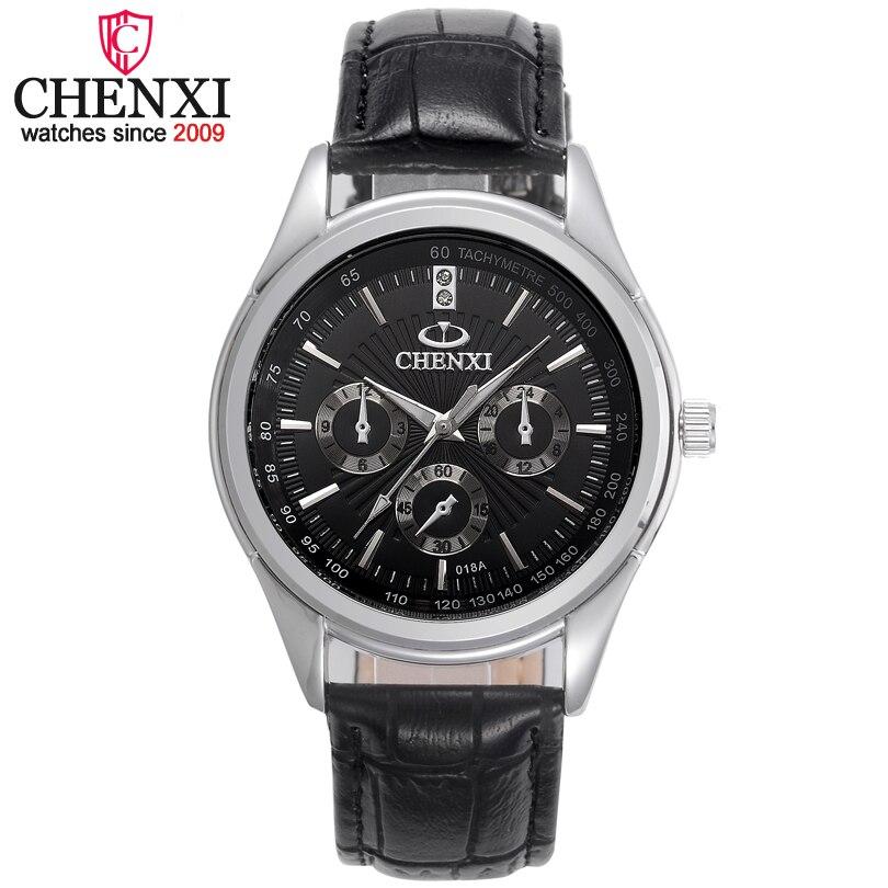 CHENXI Brand Luxury Man Watches Classic Genuine Leather Business Male Watch Casual Fashion Leather Strap Mens Quartz Wristwatch fashion dali brand leather leather watch luxury classic a6