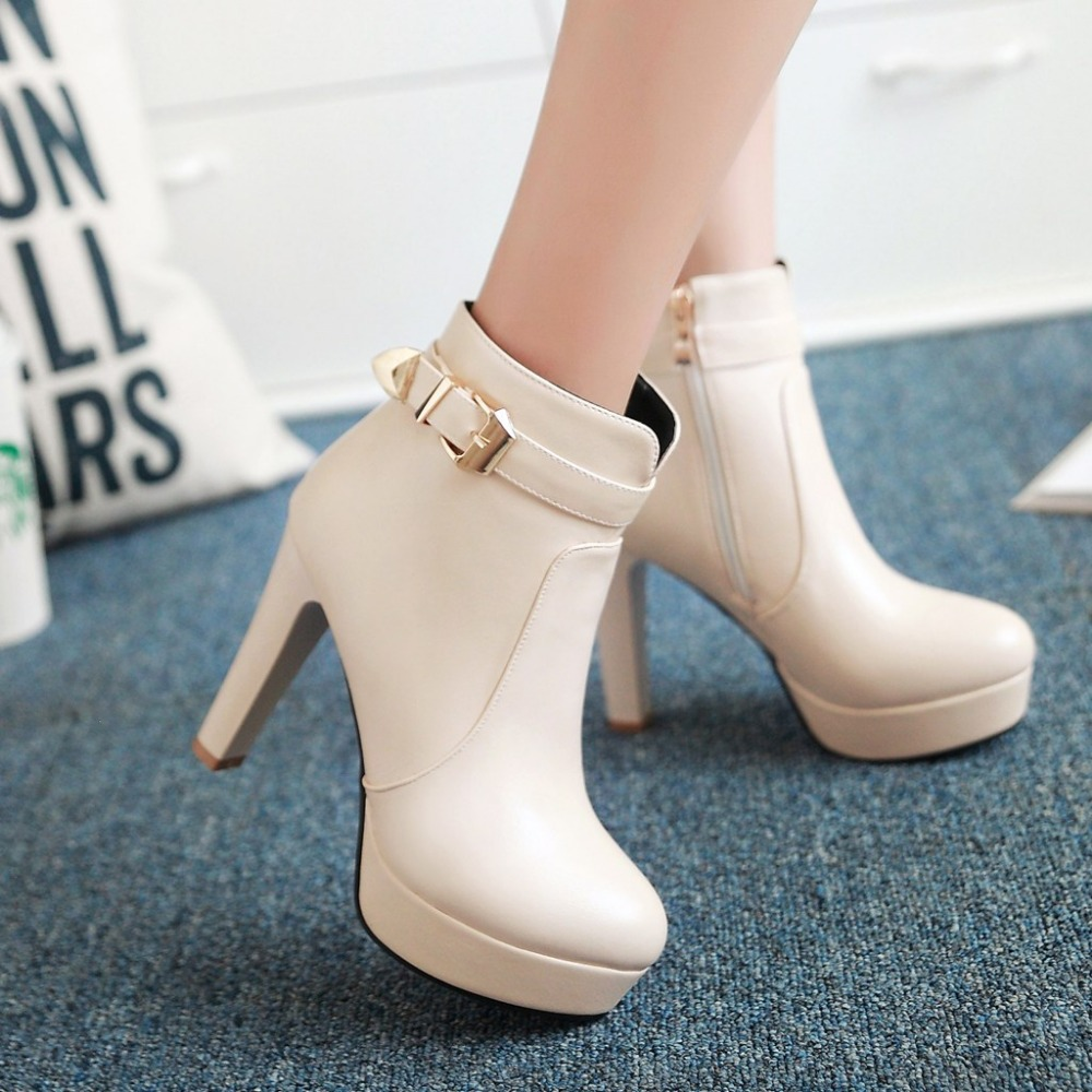White Chunky Heels Promotion-Shop for Promotional White Chunky ...