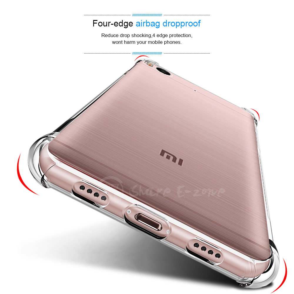 Shareezone Shockproof Clear Soft Silicone Cover for Xiaomi Redmi 4X Case Redmi Note 4X 5A Pro 4 4A 4 Pro Mi 5X Mi5s Pus Mi6 Case