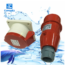 цена на 16A 5Pin industrial Implement Hide Direct Socket Connector TYP235  TYP5623 Concealed Installation Waterproof IP44
