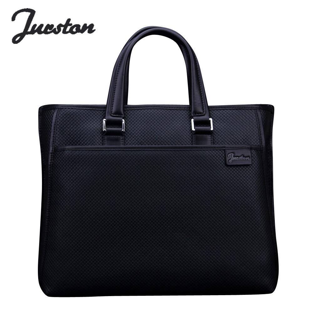 Wire man bag knitted commercial male cowhide briefcase handbag shoulder bag messenger bag