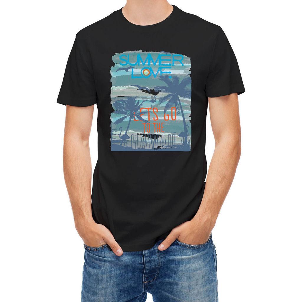 T shirt summer sunset at tropical beach hawaii print t for Best mens t shirt brands