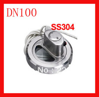 DN100 SS304 union type sight glass view glass with light / sanitary sight glass for the tank