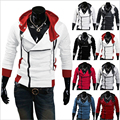 9colors M-6XL 2016 Hoodies Men Hoodie Sweatshirt Tracksuit Hooded Jacket Casual Exercise Male Hooded Jackets Assassins Creed