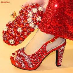 Doershow heißer verkauf Afrikanische schöne Designer Schuhe Und Tasche Set Zu Spiel Italienische Partei Schuhe Mit Passenden Taschen Set! HXX1-1