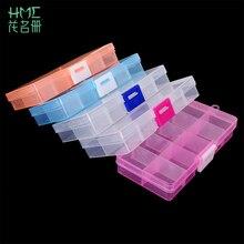 10 слотов Регулируемая прозрачная коробка для хранения ювелирных изделий Кольцо Серьги лекарства таблетки бусины портативный пластиковый Чехол Органайзер для путешествий