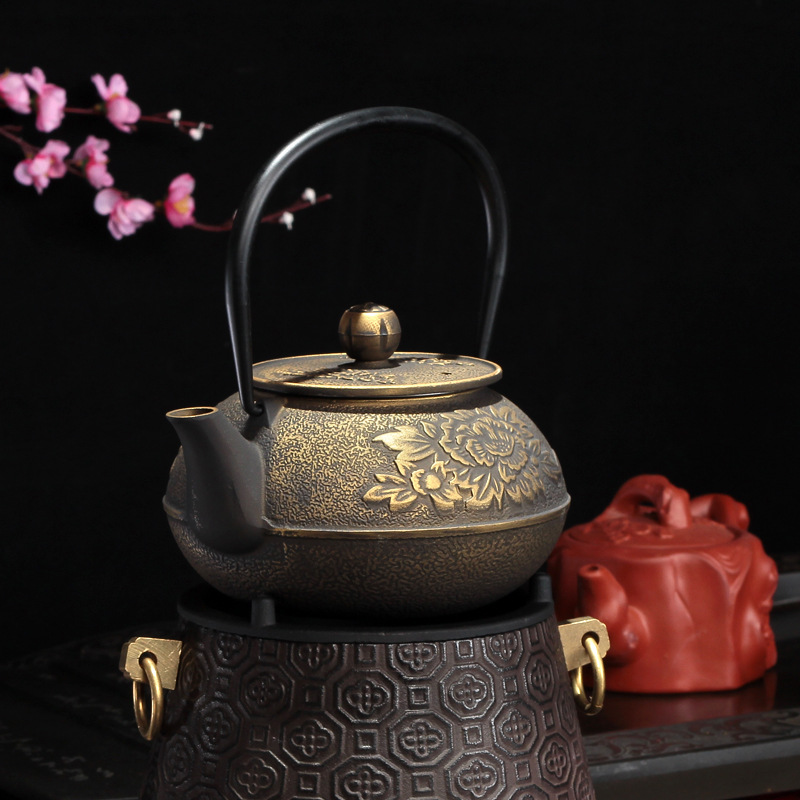 Traditional Golden Peony Gong Fu Kettle