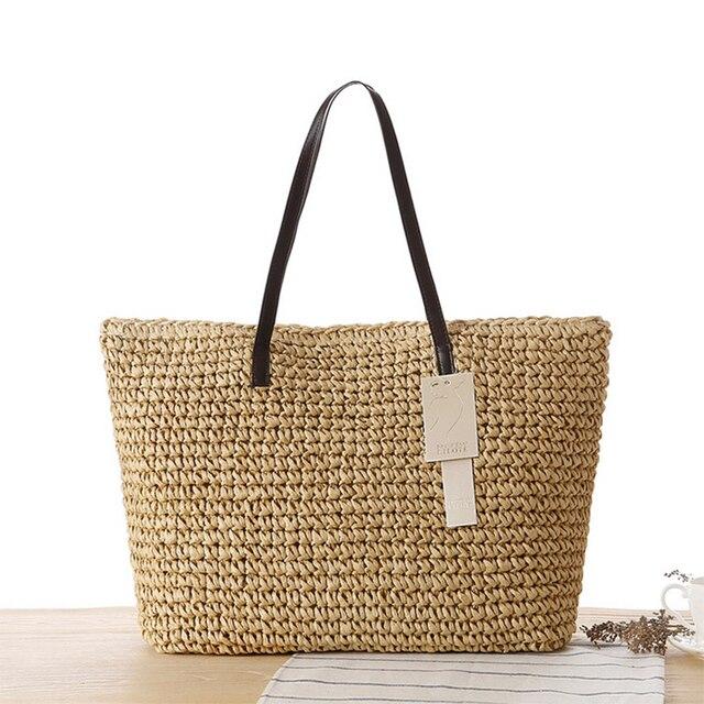 Bolsa De Praia Para Madrinhas : Fashion simple hollow beach bags women straw bag vintage