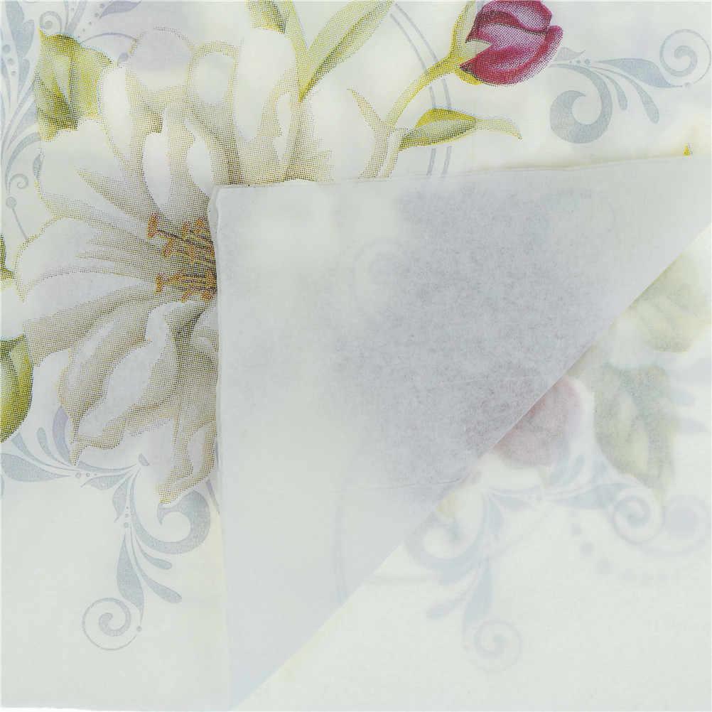 20 PCS Lírio Vermelho Flor Branca Servetten Aniversário Festa de Casamento Cocktail Guardanapos De Papel Guardanapos de Tecido Do Vintage