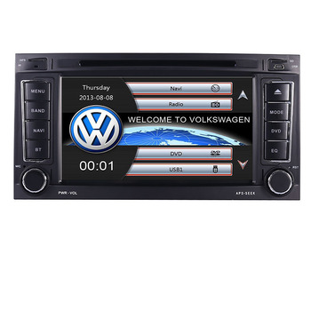 In Stock 2 din 7 inch Car DVD VW Touareg Multivan T5 (2002-2010) GPS 3G BT Radio RDS USB Steering wheel Canbus Free GPS MAP image