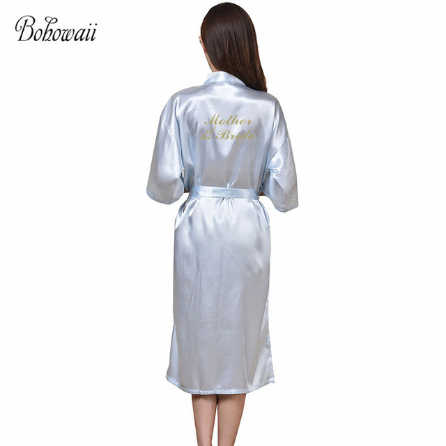 Plus Size Long Mother Of The Bride Robe Badjas Soft Satin Dressing ...