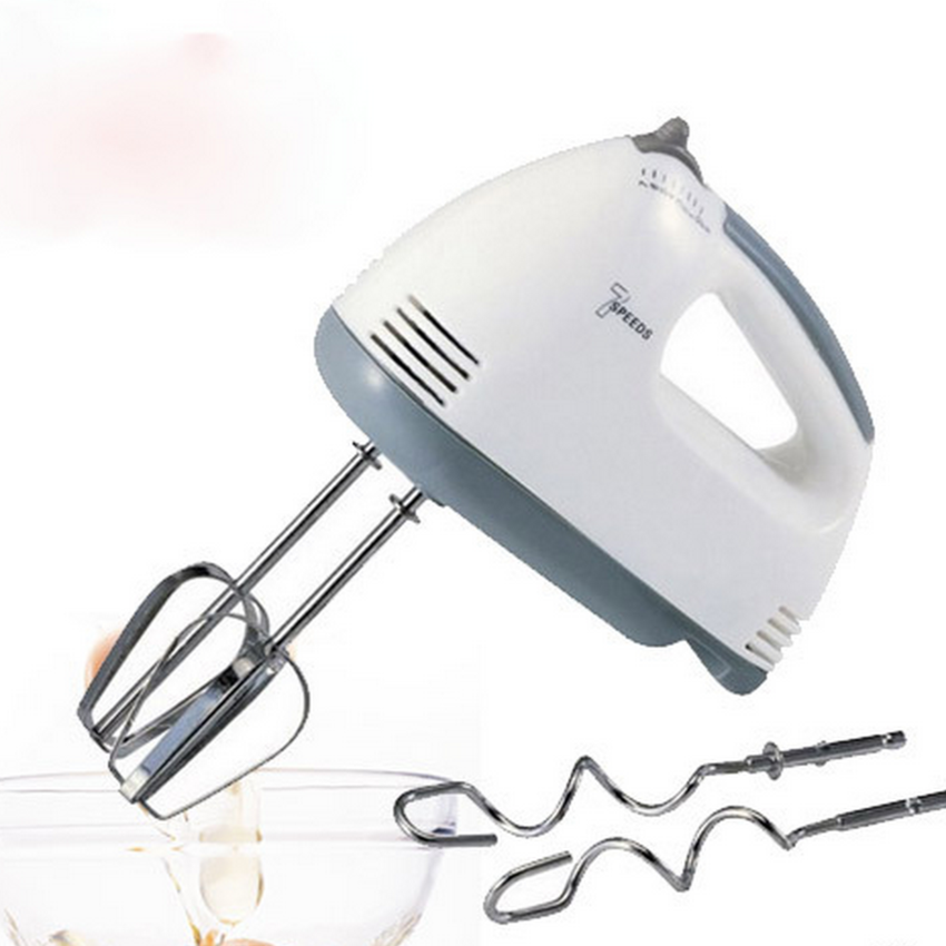 180W 7-Speed Electric Egg Beater Hand Mixer Includes - 2x Beaters, 2x Dough Hooks