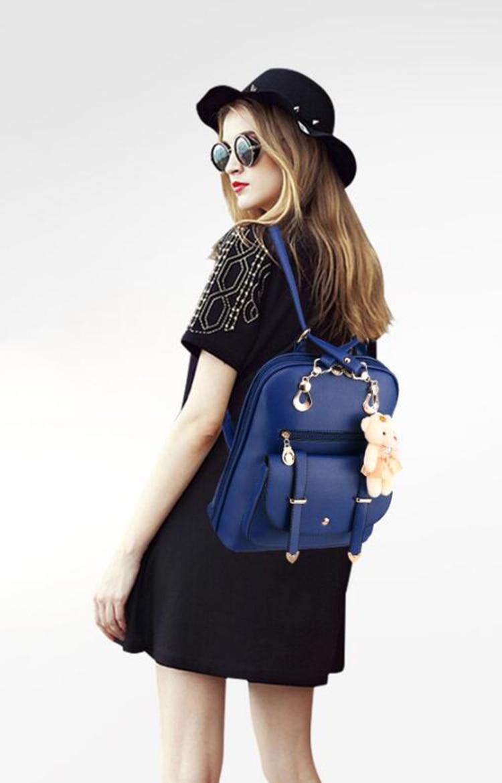 HTB12IKtkqQoBKNjSZJnq6yw9VXa6 Preppy Style Women Backpack Bear Toys PU Leather Schoolbags for Teenage Girls Female Rucksack Shoulder Bag Travel Knapsack