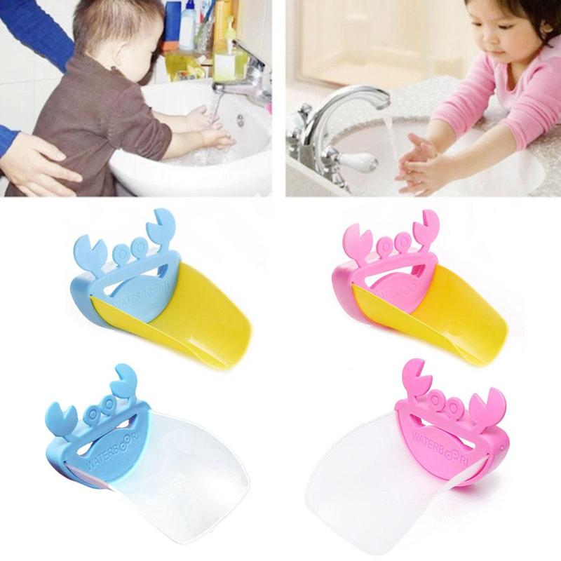 Cute Bathroom Faucet Extender Cartoon Baby Hand-washing Device Children's Guide Sink Faucet Extension Bathroom Accessories