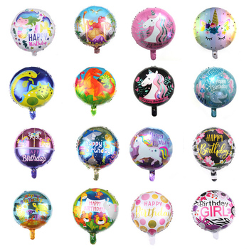 18inch dinosaur Flamingo Mermaid unicorn Foil Balloons Air helium globos Kid Baloons Happy Birthday Party Decorations Supplies image