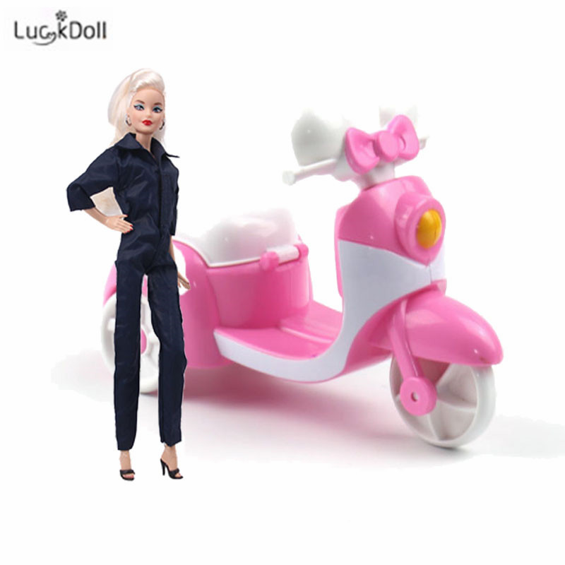 LUCKDOLL 2019 Fashion New Three-Wheeled Scooter For 11.8-Inch Doll AccessoriesGirls Toys,Generation,Birthday Gift