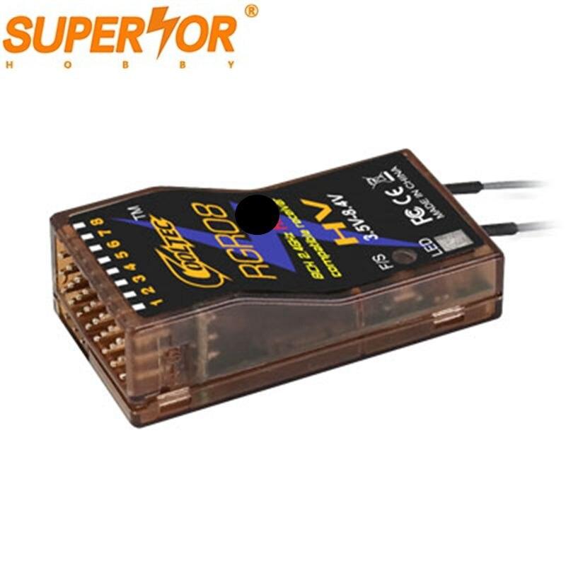 RGR08 8ch Voltage Telemetry Compatible 8.4V Receiver For Graupner HoTT GR-12L GR-32L MZ-32 MZ-12 MZ-10 MC-28 MC-26 X-8E X-4S