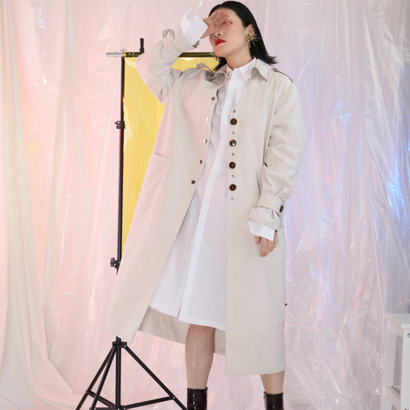 39 Mode Taille Femelle Beige ever amp; Haute Ceintures Tranchée S Yd Nouveau Vêtements Longue Dos Coupe vent 2018 Manteau Printemps Femmes Nu pZgYqxnBw7