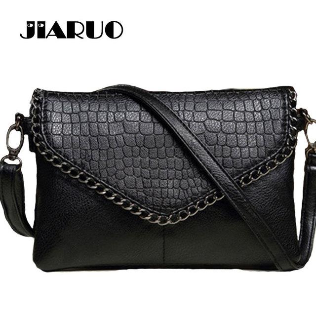 0da5f8ba6c3a JIARUO Small Luxury brand Designer Women Leather Envelope Shoulder  Crossbody Messenger bag Chain Vintage Handbag and purses