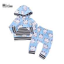 Фотография 2017 baby christmas Clothes Baby sport Clothing Sets Baby Boys cotton casual  Hoodie Tops Long Pants Outfits sport Set