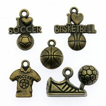 c2e47df8aaa 50%OFF(10 pcs or more) Basketball Pendant Charms Antique Bronze Soccer  Charms Jewelry 3D Basketball Charms Jewelry Accessories