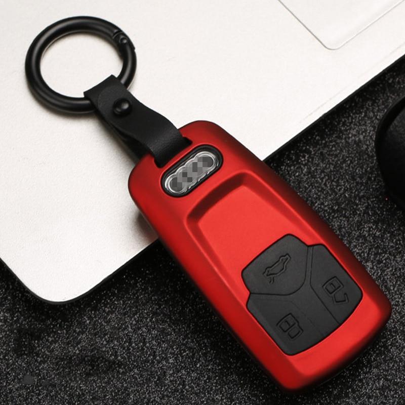 Image 3 - Новый карбоновый полосатый матовый текстурный автомобильный чехол для ключей для Audi Q3 Q5 Sline A3 A5 A6 C5 A4 B6 B7 B8 TT 80 S6 C6 дистанционный ключ куртка-in Футляр для автомобильного ключа from Автомобили и мотоциклы