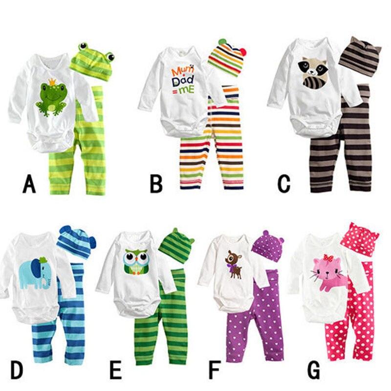 0-2T Baby pojke och flicka Rompers bomull Cartoon stripe Dot Baby - Babykläder