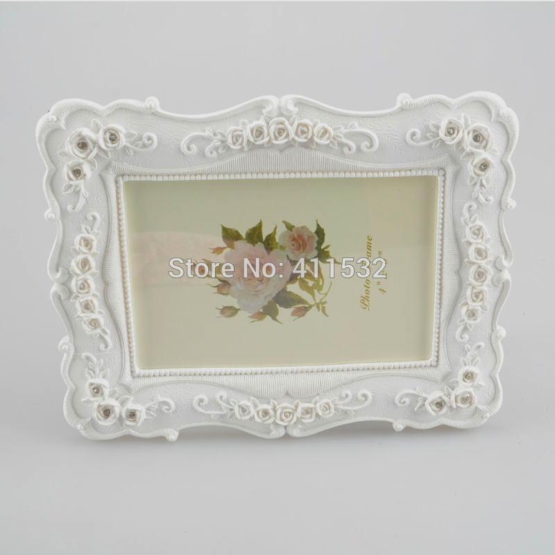 6inch white fashion vintage swing sets resin picture frame rustic photo can be horizontally and upright