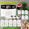 Hot Selling GSM Alarm System Wired/Wireless 433MHz, Russian / English Voice Prompt, Support Pet immunity