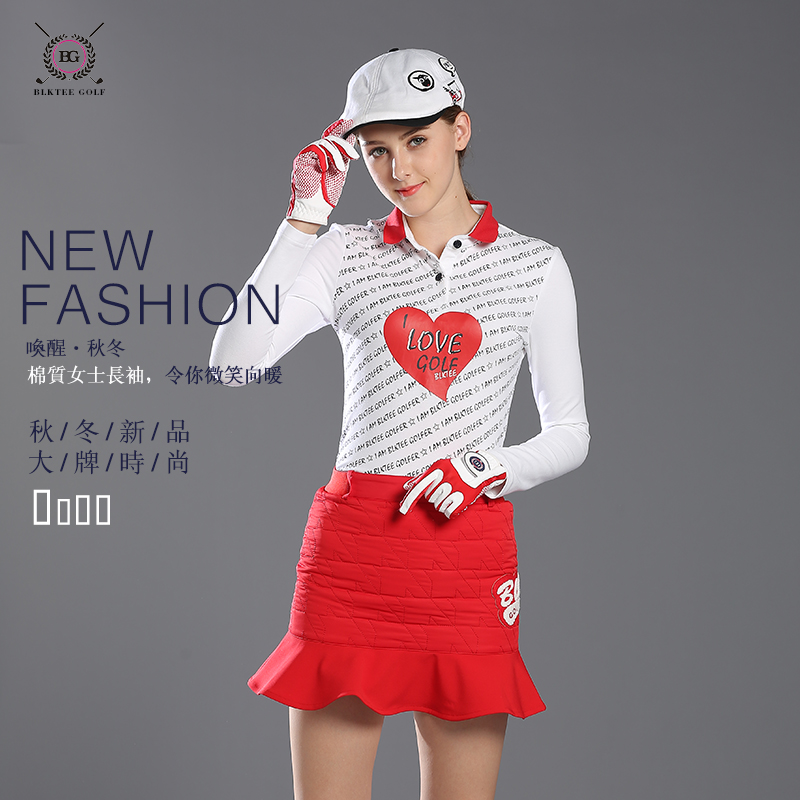 New arrival women golf shirts autumn sports jersey golf sportswear long-sleeve T-shirt sunscreen top white navy golf apparel кабель hdmi dvi vivanco 42057