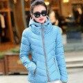 С капюшоном плюс размер 2017 Корейский длинным рукавом теплый мягкий зимой 6 цвета куртка дамы парки для женщин зимнее пальто женщина MZ472