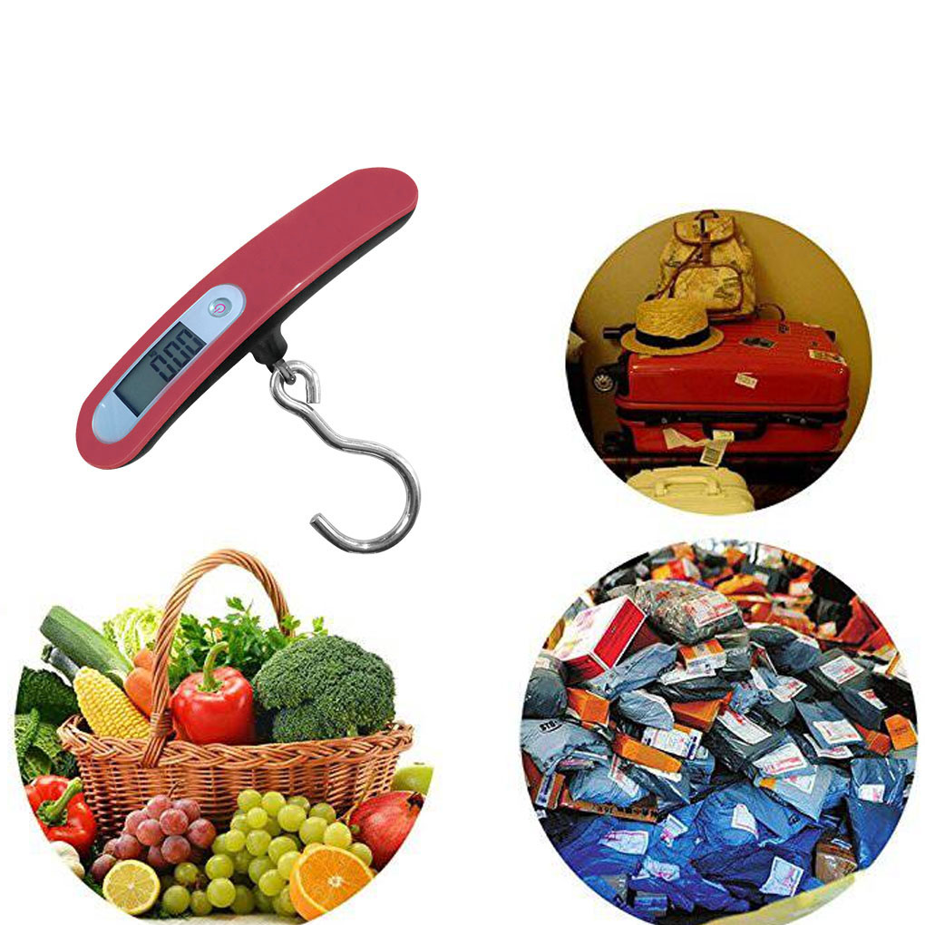 50kg x 10g Digital Hook Scales LCD Electronic Hanging Scale Luggage Fishing Weight Steelyard portable 1 3 8 led 0 12w 48lm digital luggage scale black 2 x aaa 10g 50kg