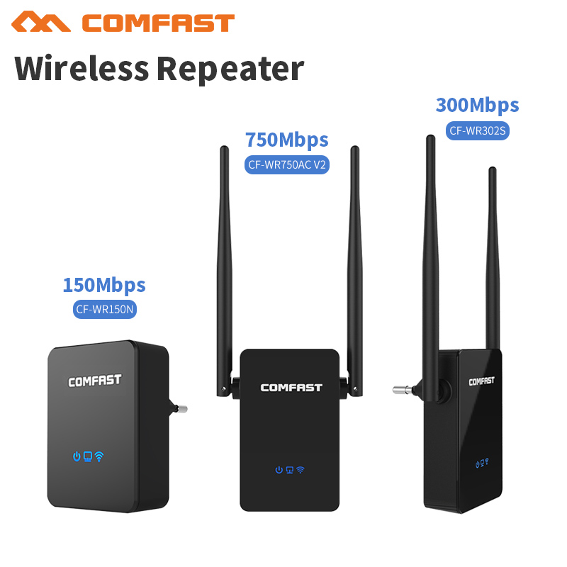 Comfast 150M-750M Dual band Wireless home wifi repeater bridge signal booster Amplifier 10dBi Antenna wi fi access point repeate comfast cf wr750v2 dual band 750mbps wifi repeater roteador 802 11ac wireless router 2 4 5 8ghz long rang wi fi signal amplifier