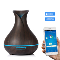 DEKAXI 400ml Aroma Diffuser Aroma Air Humidifier 7 Color LED Light Electric Cool Mist Maker with APP Remote Control