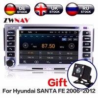 2Din Android System UK Warehouse NO VAT Car GPS Navigation DVD Player For Hyundai SANTA FE Android 2006 2012 Free Map And Camera