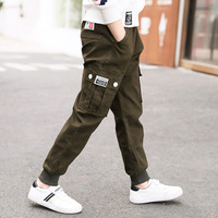 Big Pockets Boys Pants 2018 Spring Teenage Clothing Kids Pants Boy Trousers Children Cotton Clothes Boys Joker Leisure Trousers