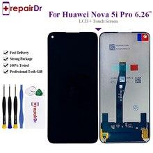 6.4 Teste Para Huawei Nova GLK LX1 GLK LX2 GLK LX3 5i LCD Screen Display Toque Digitador Assembléia Para Huawei Nova 5i tela de LCD