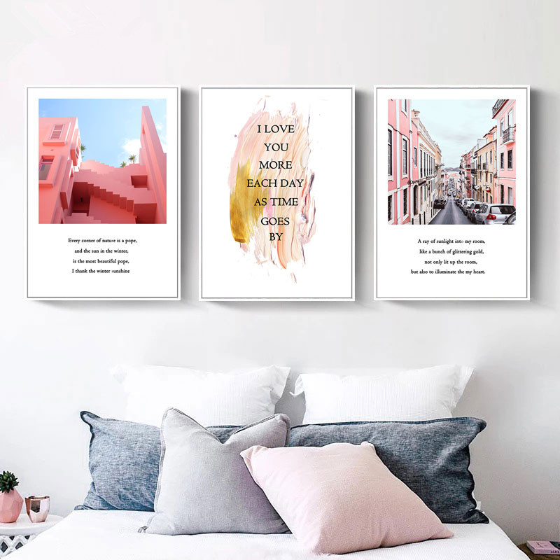 Modern Minimalist City Building Canvas Art Painting Prints And Posters Wall Picture Pantings For Living Room Home Decor T028