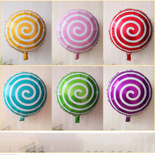 1pcs New Arrivals Lovely Candy Aluminum Foil Balloons for Wedding Happy Birthday Party Decorations 6 Colors Circle Decor Balloon